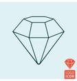 Diamond icon isolated vector image