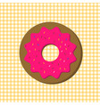 donut with icing vector image
