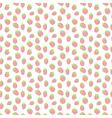 cute strawberries seamless pattern vector image