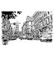 original black and white urban architectural vector image