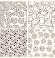 4 seamless funky patterns vector image
