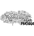 a little phobia knowledge goes a long way text vector image vector image