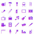 art gradient icons on white background vector image