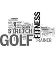benefits of a golf fitness stretch trainer text vector image vector image