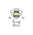 big bee logo vector image vector image