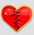 big red broken heart vector image vector image
