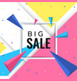 big sale paper banner template design vector image vector image