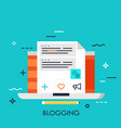 blogging flat concept vector image