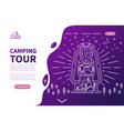 camping tour - landing page template vector image