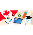 canada education school university concept with vector image vector image