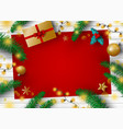 christmas decoration design vector image