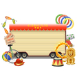 Circus Billboard vector image vector image