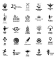 Color Corporate Icon Collection vector image vector image