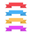 colored ribbon banners vector image vector image