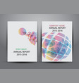 cover design template annual report cover flyer vector image vector image