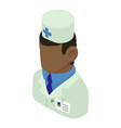doctor man african american icon isometric 3d vector image