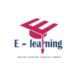 E learning logo template vector image vector image
