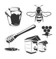 elements for honey vintage labels vector image vector image