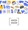 flat style winter sports equipment and vector image