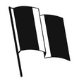 germany flag icon simple style vector image vector image
