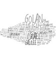 golan word cloud concept vector image vector image