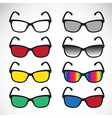 group of an Glasses vector image vector image