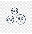 h2o concept linear icon isolated on transparent vector image