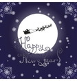 Happy New Year Card with reindeer sledding vector image