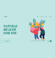 herbal aroma therapy landing page template men vector image