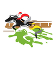 Horse racers vector image vector image