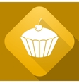 icon of Cake with a long shadow vector image vector image