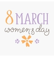 international womens day text 8 march vector image