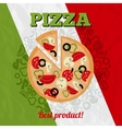 Italy pizza poster vector image vector image