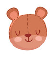kids toys teddy bear head cartoon isolated icon vector image vector image