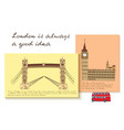 london card set vector image