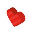 love social media isometric icon vector image