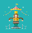 Monkey drummer circus theme vector image vector image