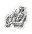 musician plays the saxophone live music musical vector image