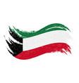 national flag of kuwait designed using brush vector image