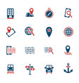 navigation ransport map icon set vector image vector image