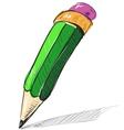Pencil sketch cartoon vector image vector image