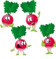 radish - funny cartoon vector image vector image