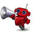 Robot with Megaphone vector image