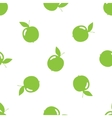 seamless pattern with green apples vector image