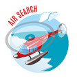 search from air isometric composition vector image vector image
