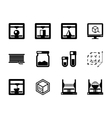 Set of 3d printing black icons vector image