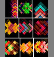 set of arrow abstract backgrounds vector image