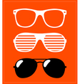 set sunglasses background vector image vector image