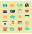 set symbols widgets vector image