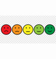 smiley face icon set vector image